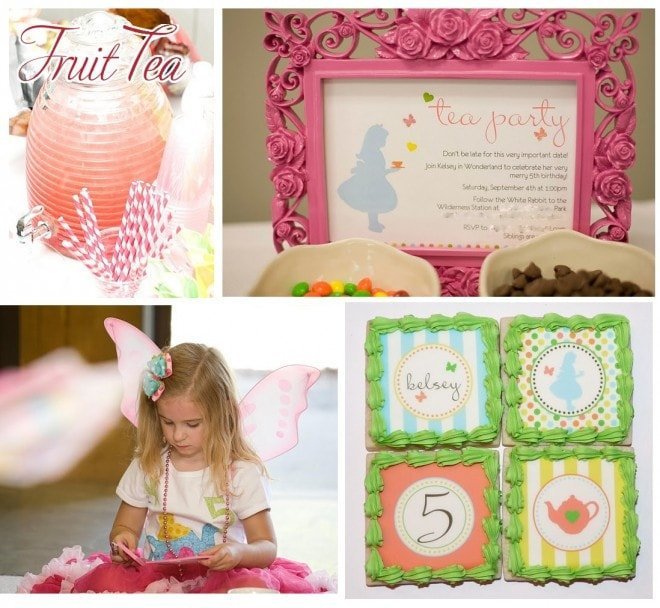 alice in wonderland tea party with tomkat printables