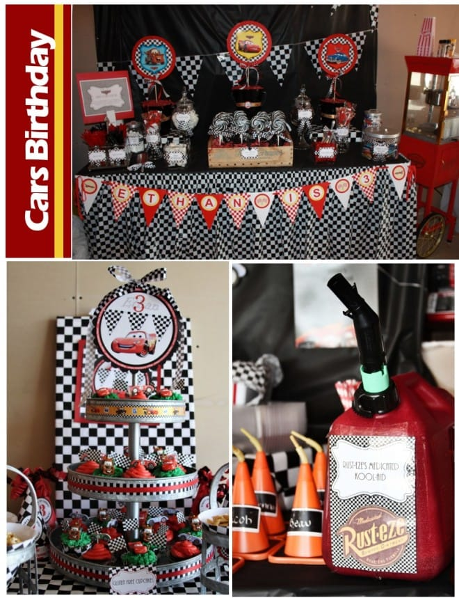 disney pixar cars birthday party for little boy