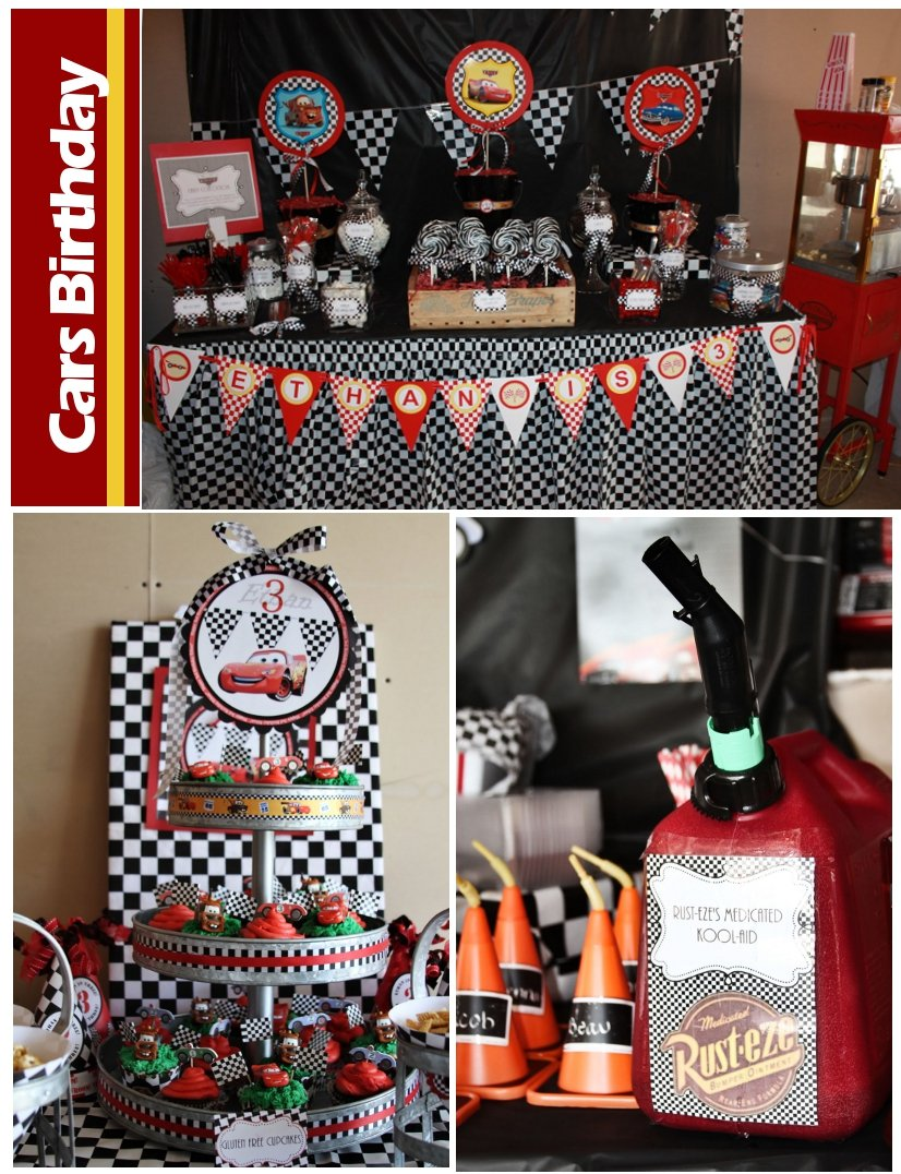 Cars Centerpiece Ideas : Disney cars birthday party pizzazzerie