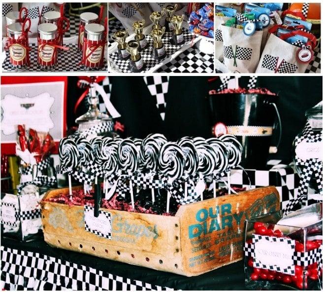 disney pixar cars racecar little boy's birthday party