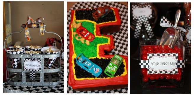 disney cars birthday party cake