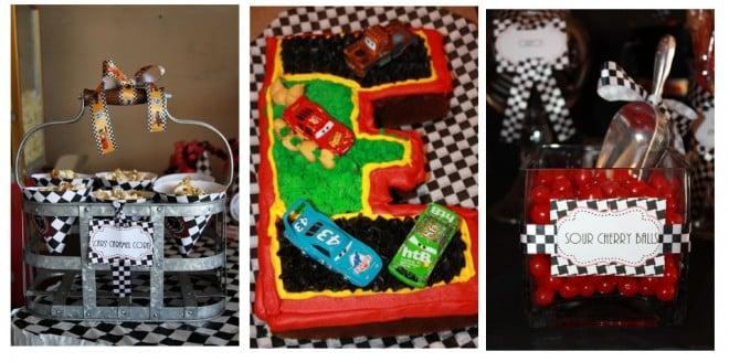 disney cars birthday party cake