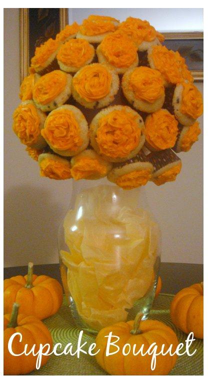 halloween cupcake bouquet