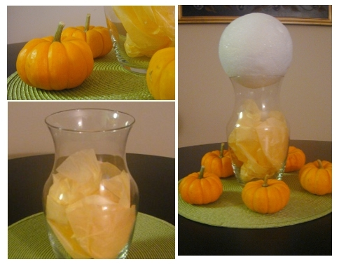 vases for making cupcake bouquet for halloween