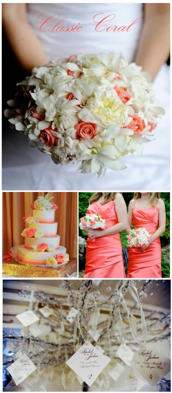 coral wedding pictures