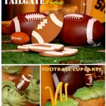 Football Tailgating Table Cupcakes
