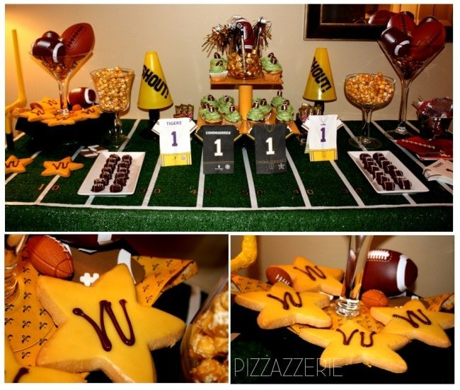 football party table
