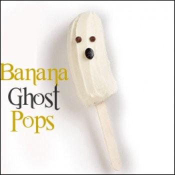 banana ghost pops