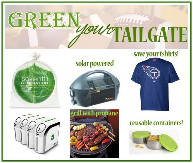 green your tailgate on game day