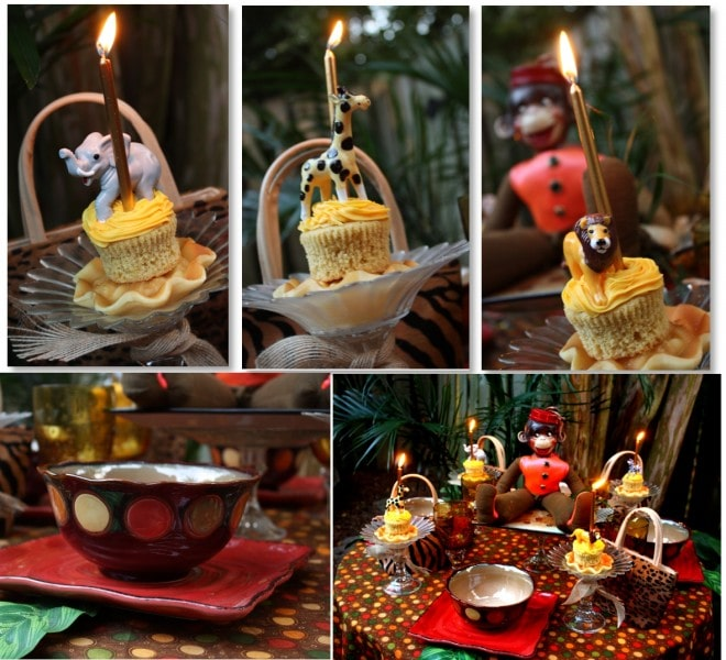 jungle monkey cupcakes and jungle monkey party decorations