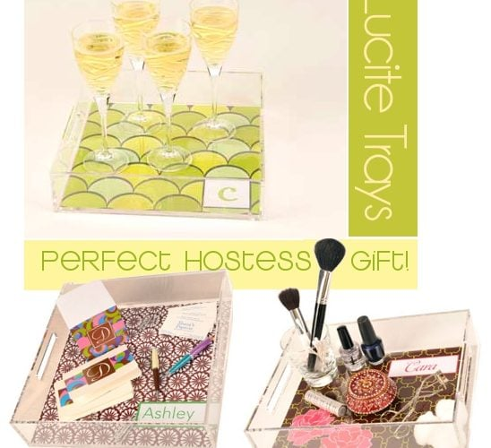 Perfect Hostess Gift! Lucite Trays
