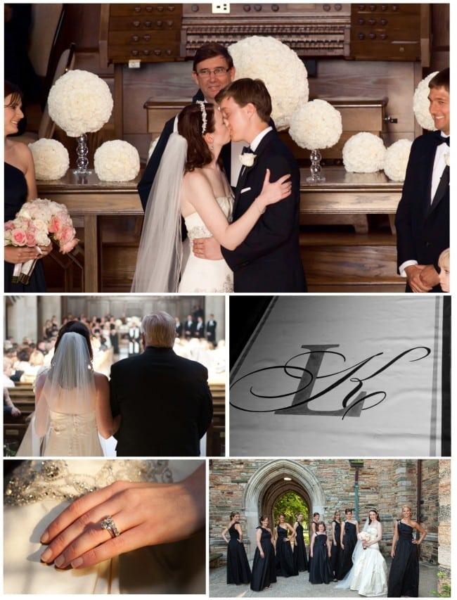 pink, white, black wedding in nashville, tn