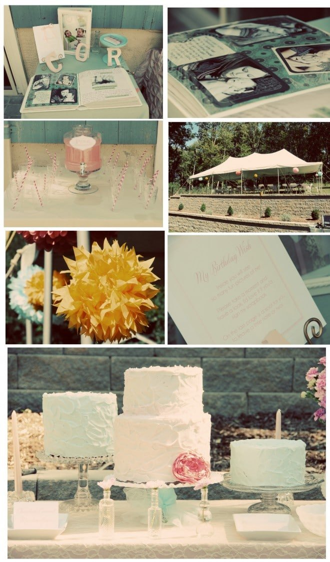 vintage shabby chic birthday party
