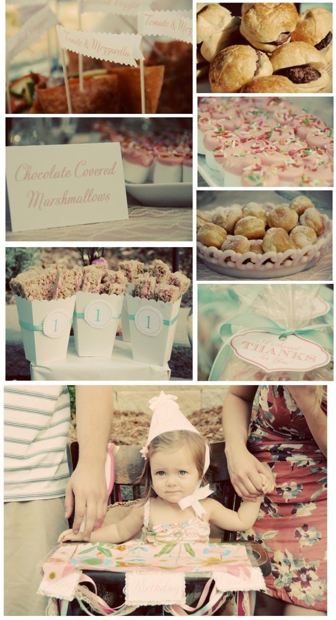 1st birthday party for little girl in vintage style