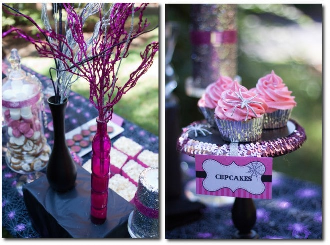 pink halloween party decorations