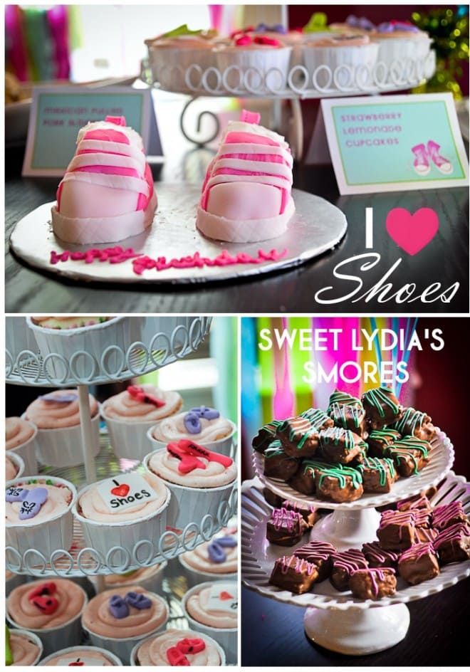 shoe themed birthday party for little girl