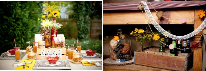 apple inspired fall tablescape
