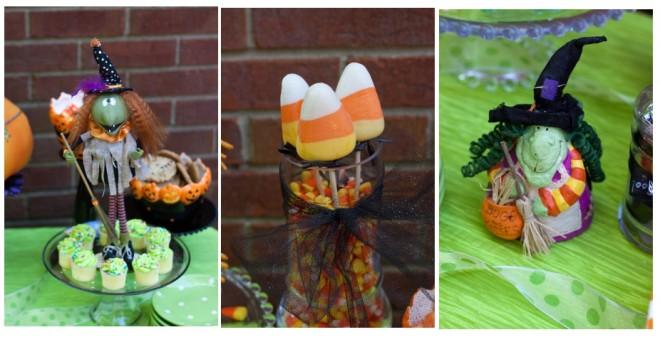 halloween witch bagel