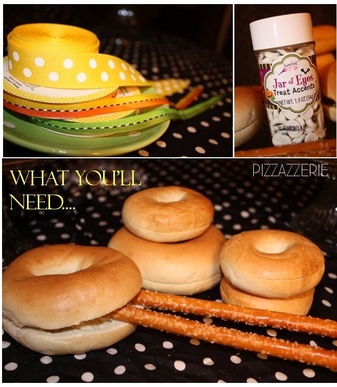 how to make halloween bagel witches