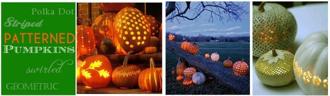 striped, polka dotted, and patterned pumpkins