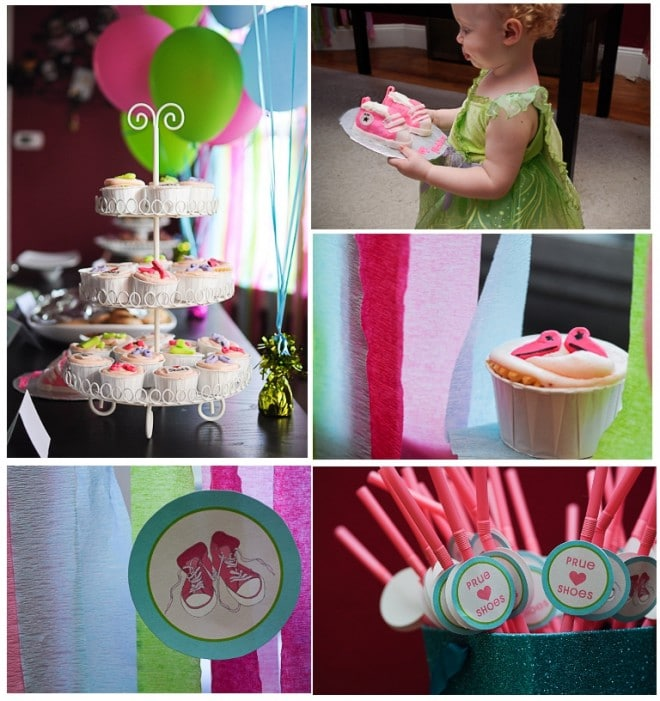 shoe themed birthday party