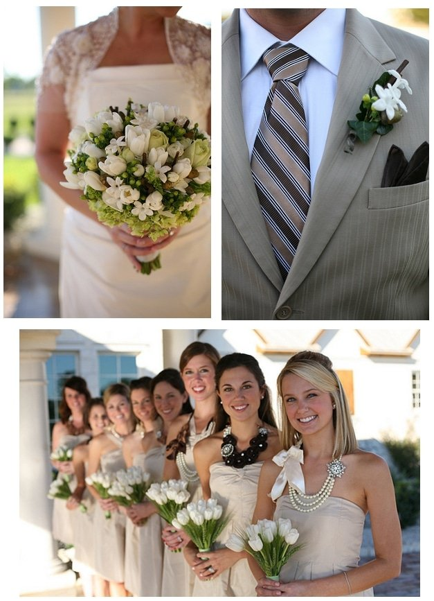 beige tan wedding pictures