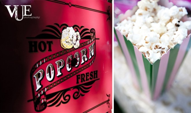 circus themed event popcorn boxes
