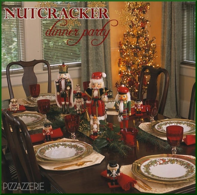 nutcracker dinner party tablescape