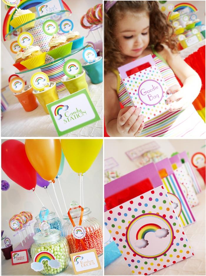 Rainbow Themed Invitations for amazing invitations template