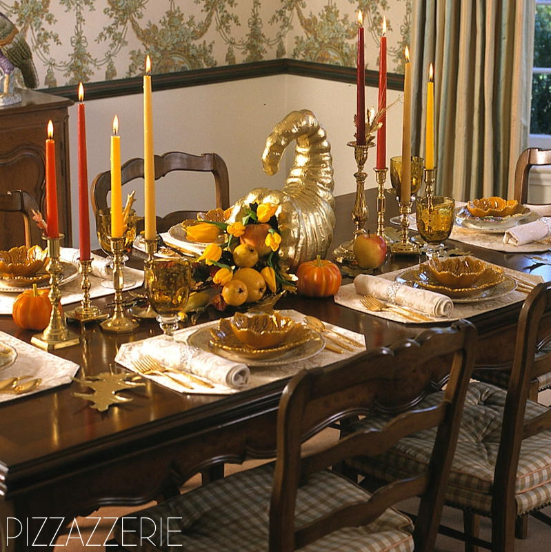 Traditional Thanksgiving Tablescape Pizzazzerie