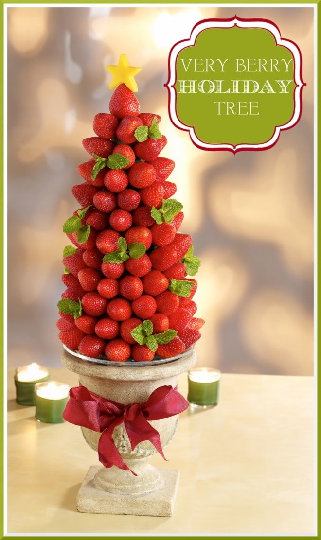 berry holiday tree craft