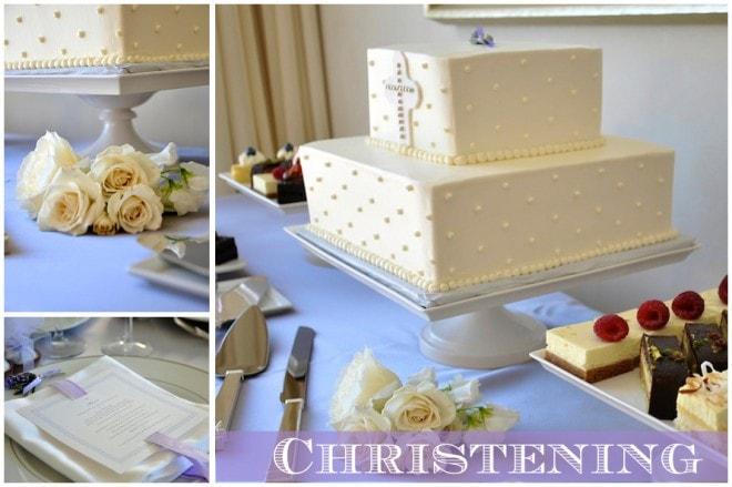 christening baptism cake