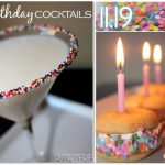 Birthday Cocktails & Sweet Treats