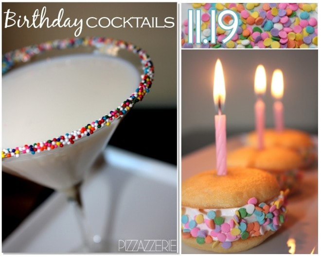 birthday cocktails and whoopie pies