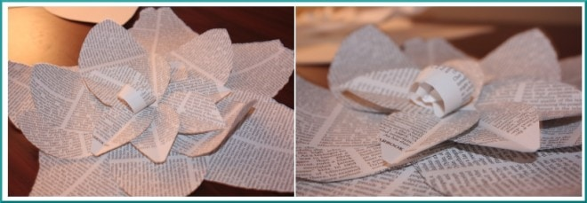 book pages paper flowers