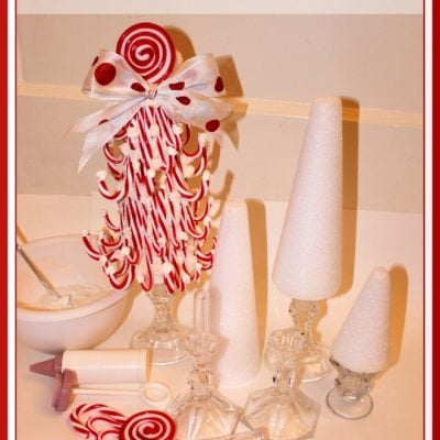 how to make candy cane topiary trees diy
