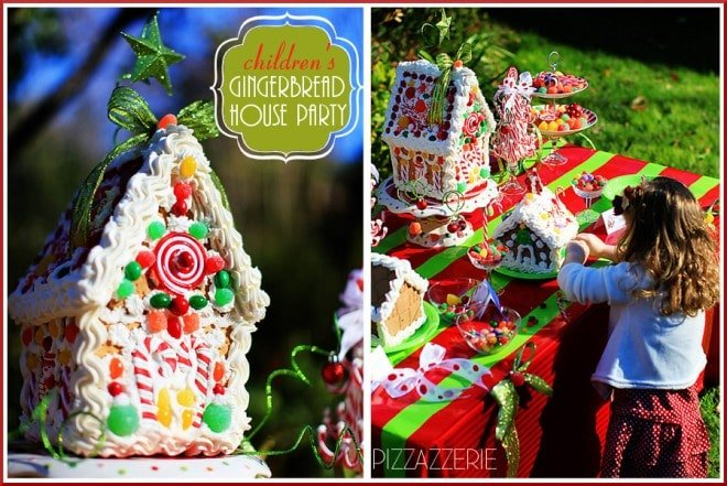 CHILDREN'S gingerbread house decorating party