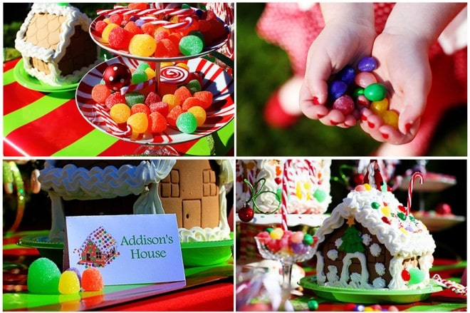 decorate gingerbread house party