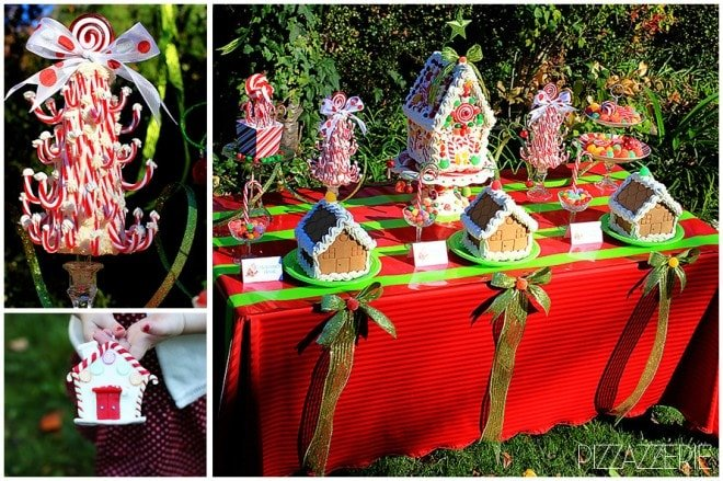 children's gingerbread house decorating christmas party