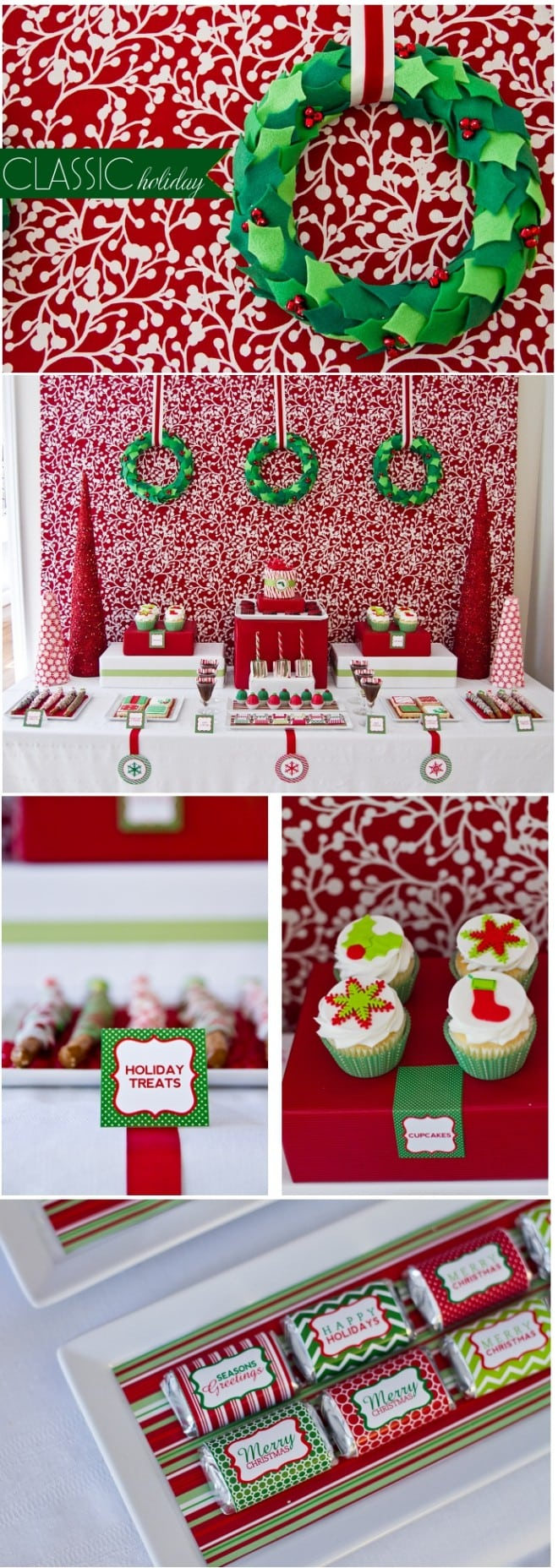 classic red and green holiday party from anders ruff