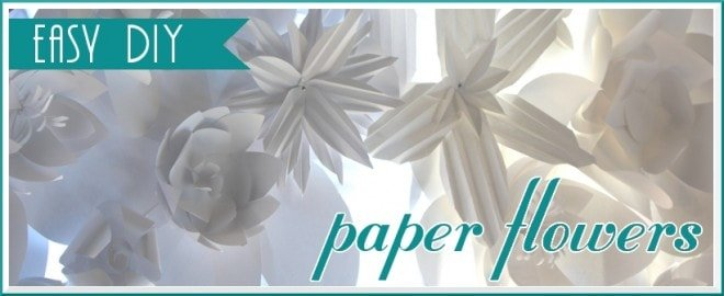 easy diy paper flower crafts with how-to
