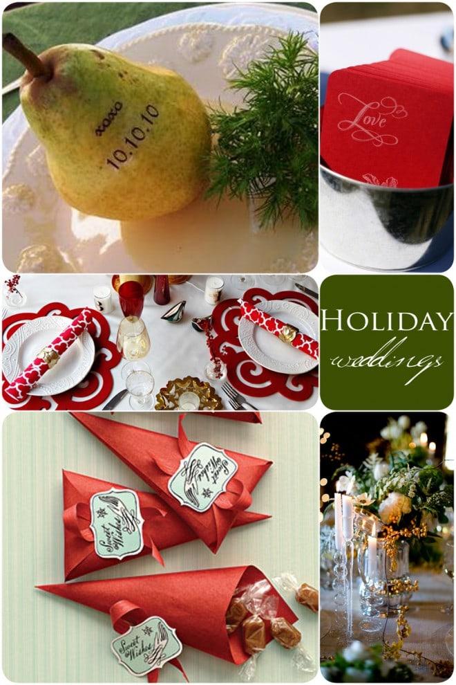 holiday wedding details christmas