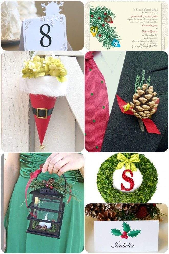holiday wedding details