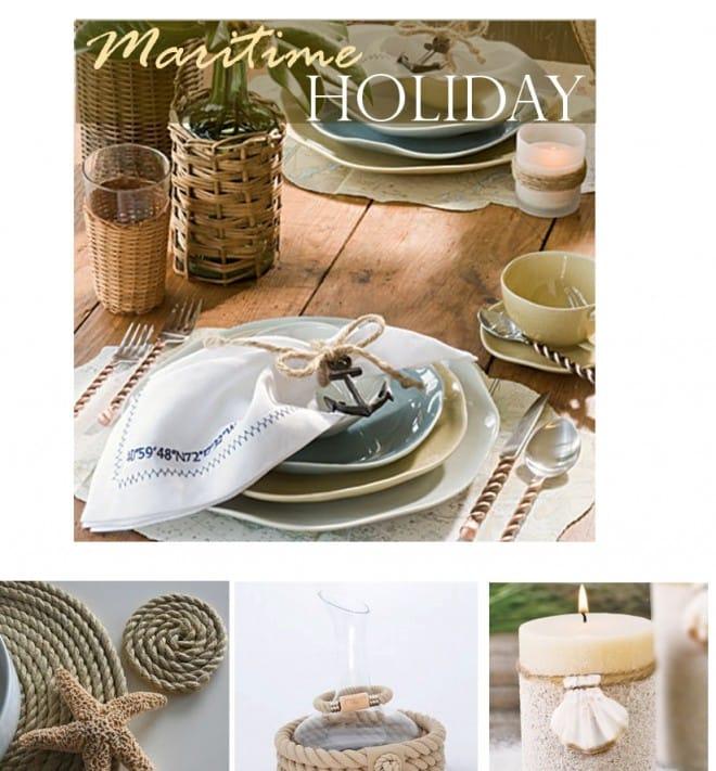 nautical holiday table setting