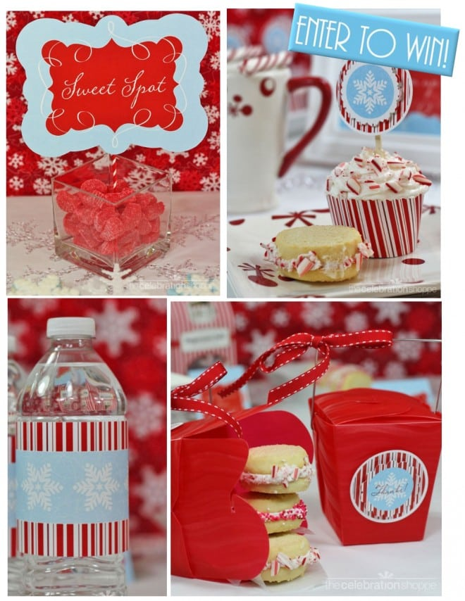 mod candy cane holiday party collection