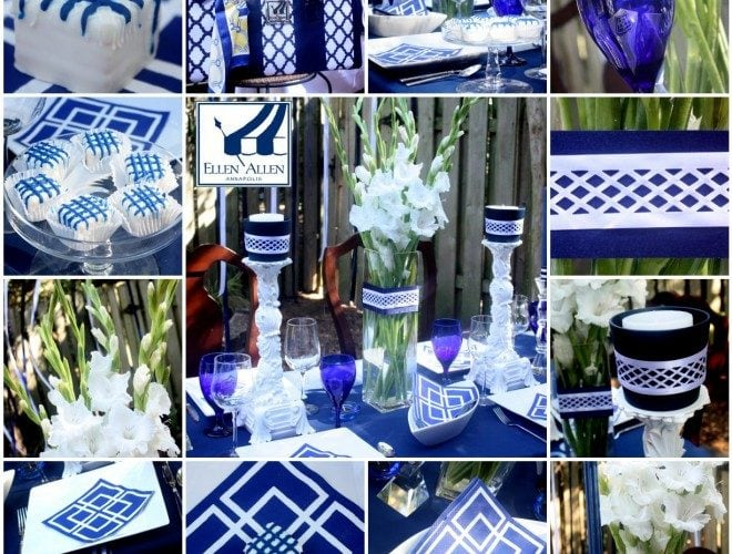 Blue & White Ellen Allen Inspired Tablescape