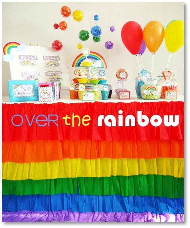 rainbow birthday party