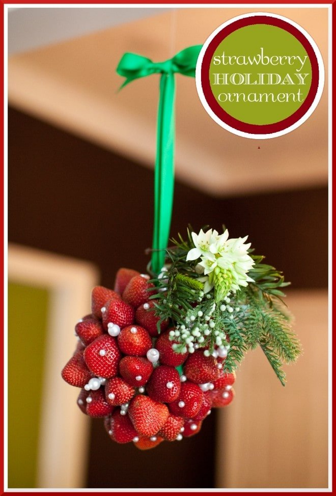 strawberry holiday ornament