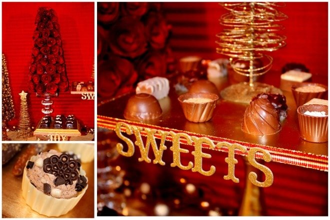 sweet christmas dessert table