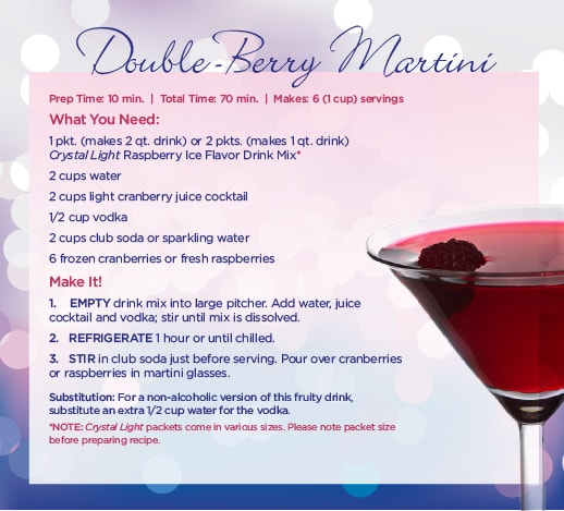 double berry crystal light martini recipe